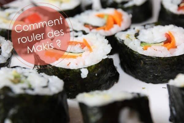 Comment rouler un sushi avec tapis ?